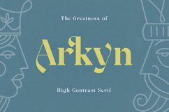 Arkyn - Modern Classic Serif Font Product Image 1