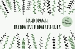 Hand Drawn Floral Elements & Backgrounds Product Image 1