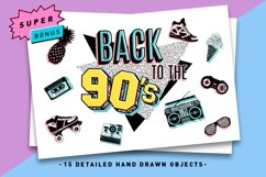 Back to the 90's. Hand Drawn Icons Product Image 1