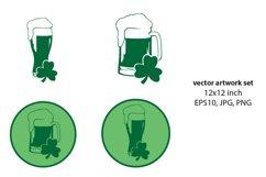green beer- VECTOR ARTWORK SET Product Image 1