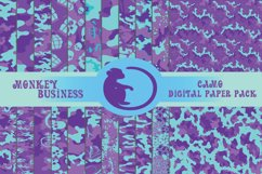 Purple camo digital papers, Scrapbook papers, Printable Product Image 1