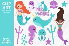 Be Mermazing Clipart Illustration PNG Product Image 1