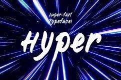 Hyper—handwritten font Product Image 1
