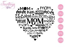 Mom Heart - Svg Cut Files Product Image 1