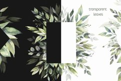 Watercolor Greenery Wreath Clipart. Product Image 3