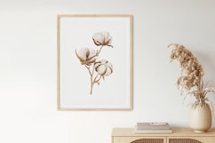 Watercolor Flower Wall Art, Flower Wall Print, Plant Print Product Image 2
