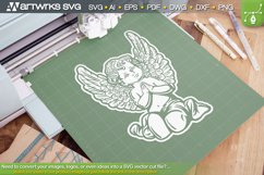 Angel SVG catholic clipart   Christian SVG by Artworks SVG Product Image 2