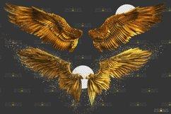 Golden Angel Wing overlay & Photoshop overlay Product Image 6