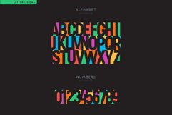Negative Space Font Product Image 3
