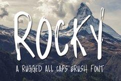Rocky - Brush Font Product Image 1