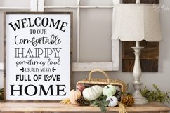 Welcome to Our Full Of Love Home SVG|DXF Cut File Product Image 1