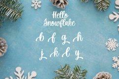 Hello Snowflake - a script winter font Product Image 10