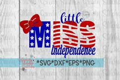 Little Miss Independence| July 4th SVG Product Image 5