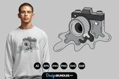 Melting Cameras for T-Shirt Design Product Image 1