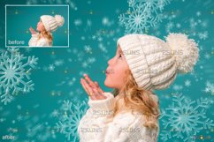 Winter overlays, Snow white clipart, Snow overlay Product Image 5