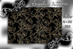 Seamless pattern with floral background. Floral vintage wall Product Image 1