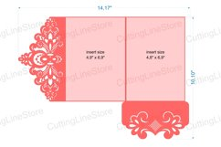 Lace wedding invitation template, Svg files for cricut Product Image 5