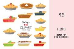 Pie Clipart Graphics, Pumpkin Pie, Lemon Meringne Product Image 1