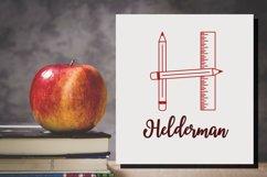 Teacher Monogram Font Product Image 3