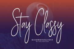 Stay Classy - Font Family Product Image 1