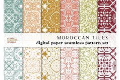 Moroccan digital paper - hand drawn seamless pattern Product Image 1