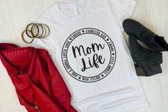 Mom Life Round SVG Product Image 2