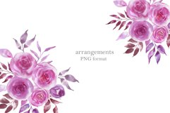 Watercolor pink flowers Product Image 2