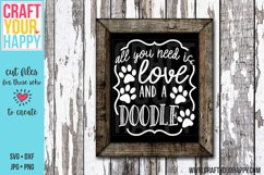 All You Need Is Love And A Doodle 2- A Dog Cut File Product Image 1