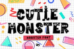 Cutie Monster - Monster Font Product Image 1