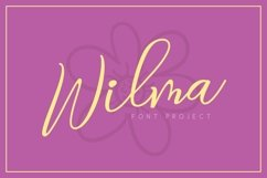 Web Font Wilma Font Product Image 1