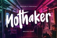 Mothaker - Brush Font Product Image 1