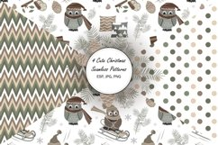 4 Cute Christmas Seamless Patterns Product Image 1