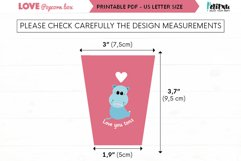 Valentines printable popcorn box, love DIY party decorations Product Image 4