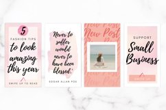 Instagram Template Bundle for Canva | Pink Watercolor Product Image 6