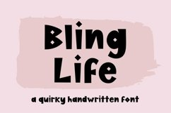 Web Font Bling Life, a quirky handwritten font Product Image 1
