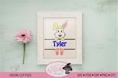 Easter Name banner, Easter bunny banner, Product Image 1