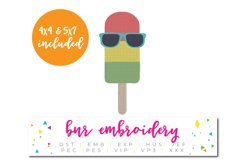 Popsicle Machine Embroidery Design Product Image 1