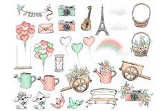 Valentine's Day clip art, love illustrations, Romantic Product Image 4