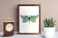 Dragonfly Zentangle - Doodle Art SVG Product Image 3