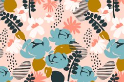 9 floral abstract seamless patterns. Product Image 5