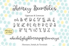 Honey Bumbles, a curly, round script font Product Image 5