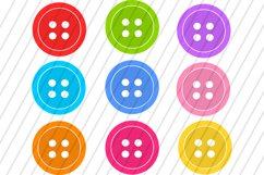 Colorful Buttons Clip Art / 16 PNG images Product Image 2