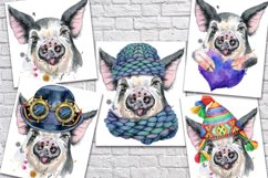 Cute watercolor pig Product Image 3