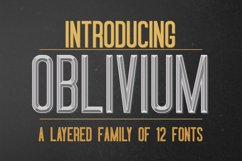 Oblivium Layered Font Family Product Image 1