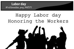 Labor day silhouette / printable labor day silhouette / vector graphics labor day / DIY cut / craft work / building / computer silhouette Product Image 2