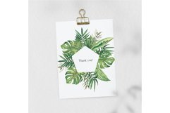 Watercolor Tropical leaves Frames Set Product Image 3