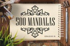 500 Vector Mandala Ornaments Product Image 1