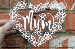 Mum paper cut SVG / DXF / EPS files Product Image 1
