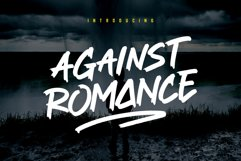 Against Romance Brush Font Product Image 1