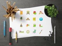 Kindergarten security icons set, cartoon style Product Image 3
